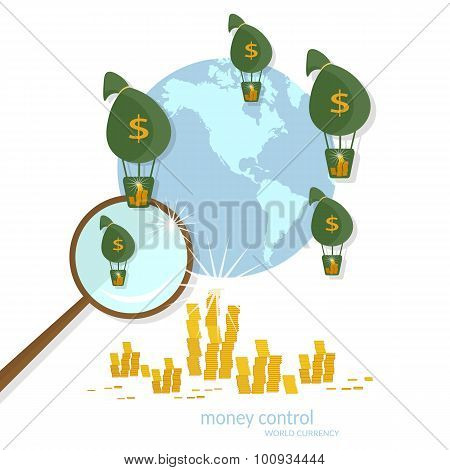 Global Transactions Transfer Banking Business Finance Online Payments Coins Cash