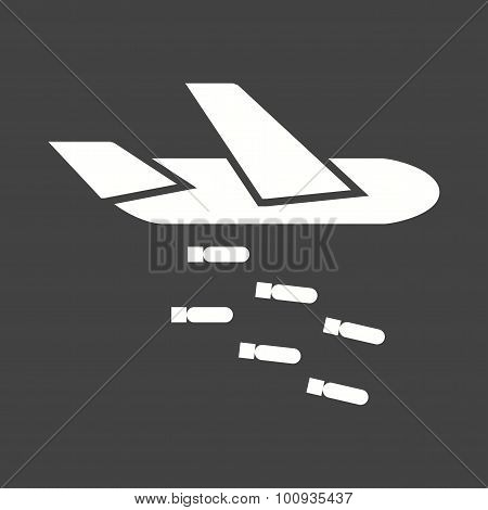 Plane dropping missiles Icon