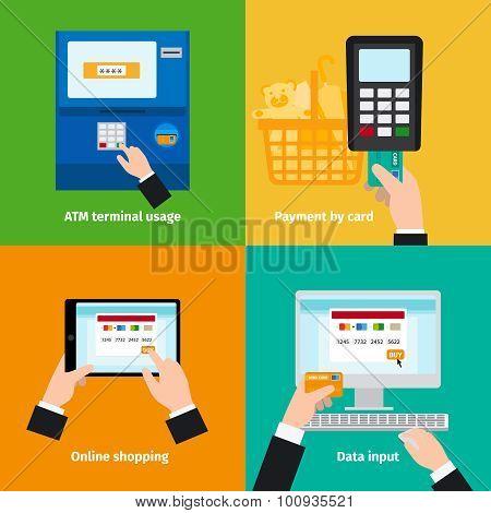 Credit plastic card usage