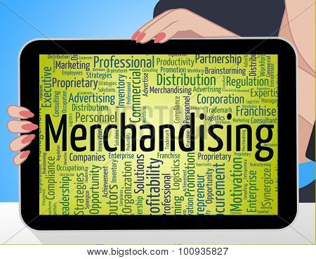 Merchandising Word Means Advertise Words And Retailing