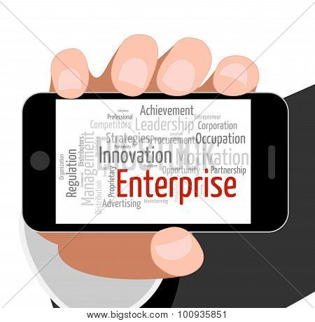 Enterprise Word Indicates Concern Venture And Words