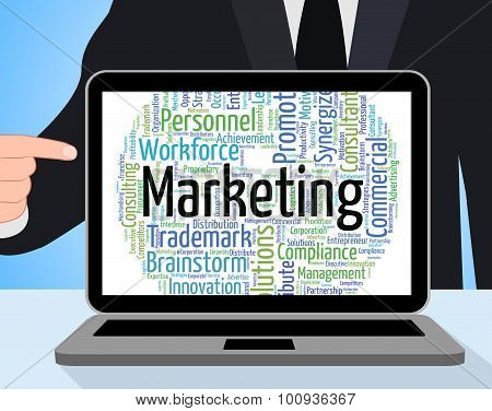 Marketing Word Represents Text Words And Advertising