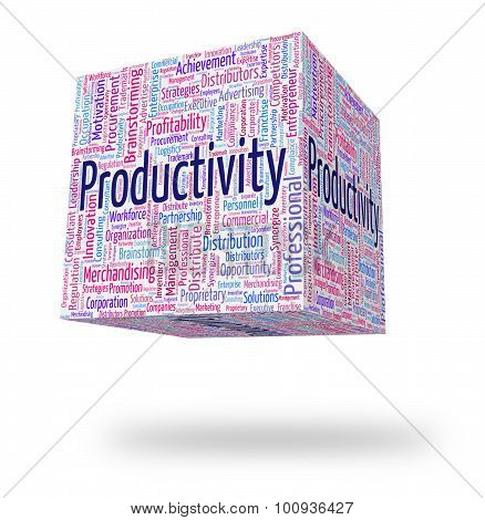Productivity Word Indicates Effective Performance And Effectivity