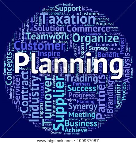 Planning Word Means Wordcloud Target And Objectives