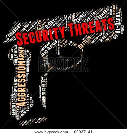 Security Threats Indicates Threatening Remark And Forbidden