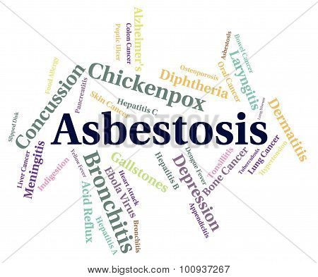 Asbestosis Word Represents Lung Cancer And Ailments