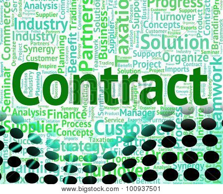 Contract Word Shows Wordclouds Contracted And Text