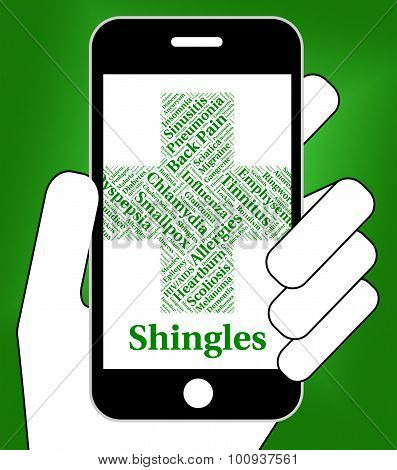Shingles Illness Shows Herpes Zoster And Ailments