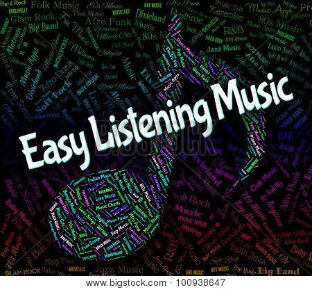 Easy Listening Music Shows Big Band And Audio