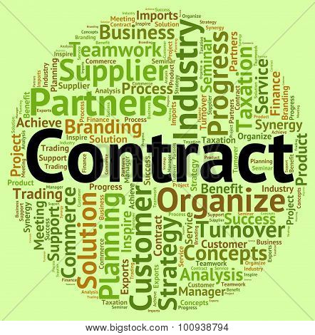 Contract Word Shows Arrangement Understanding And Text