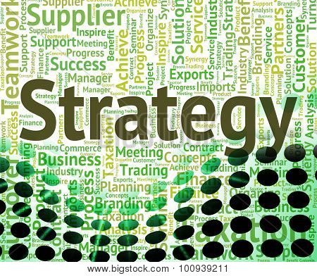 Strategy Word Represents Strategic Wordclouds And Plan
