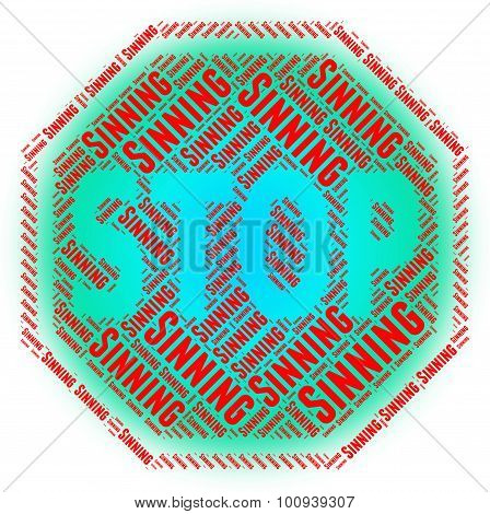 Stop Sinning Indicates Prohibited Restriction And Immorality
