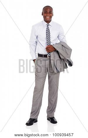 successful young afro american business executive isolated on white background