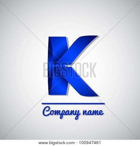 Icon of paper business logo letter k