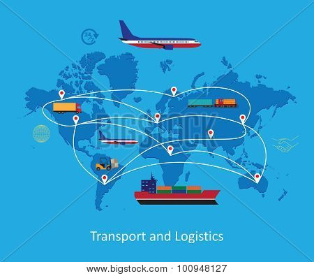 Logistics Concept Flat Illustration.