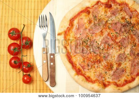Delicious Italian Pizza On Plate