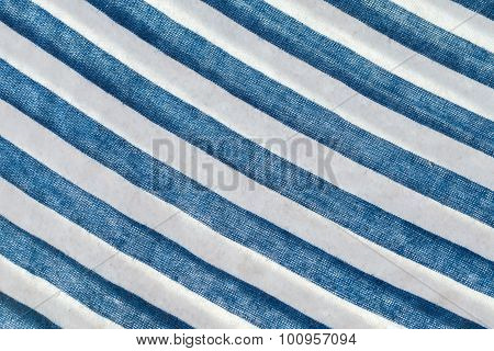 Telnyashka. Blue And White Striped Fabric