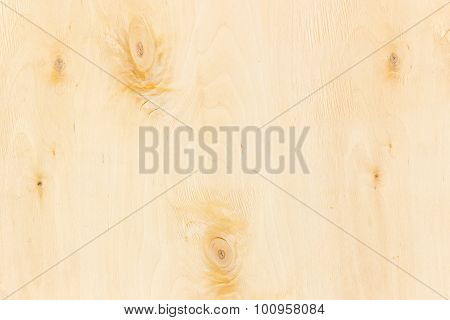 Surface Of Birch Veneer Closeup