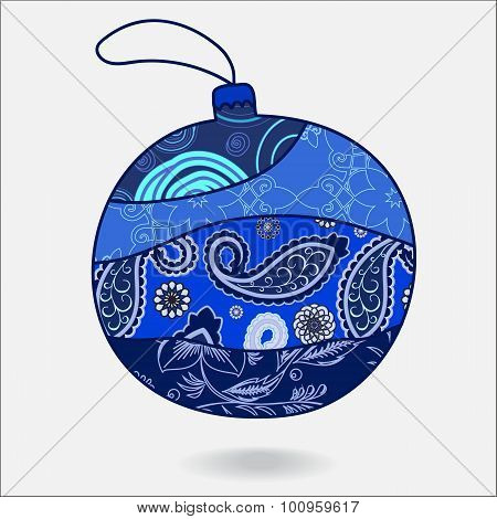 Vector Christmas Decorative Isolated Boll.