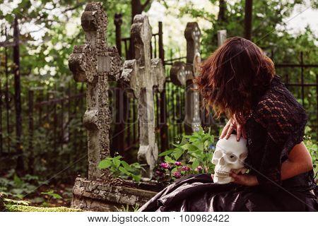 fake images of girls in graveyards