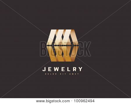 Jewelry Vector Logo Design Template. Jewellery Fashion Concept. Creative Business Symbol.