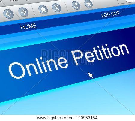 Online Petition Concept.