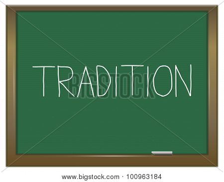 Tradition Concept.