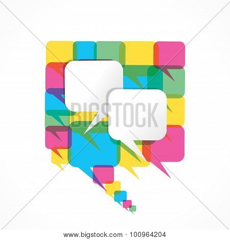 colorful message bubble design