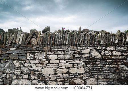 old traditional stone wall texture