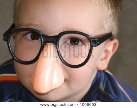 Big Nose Glasses On Little Boy