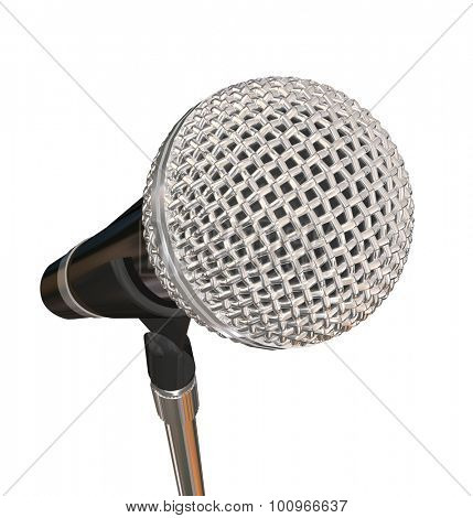 Microphone on Stand Stage Performance Singing Karaoke Stand Up Comedy