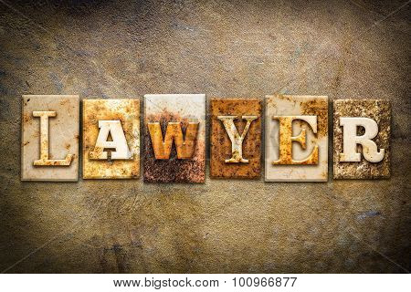 Lawyer Concept Letterpress Leather Theme