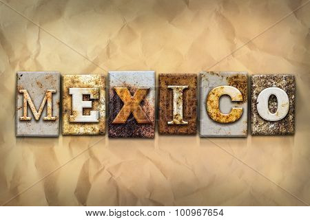 Mexico Concept Rusted Metal Type