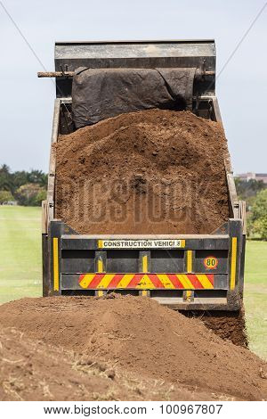 Truck Tipping Sand Earth