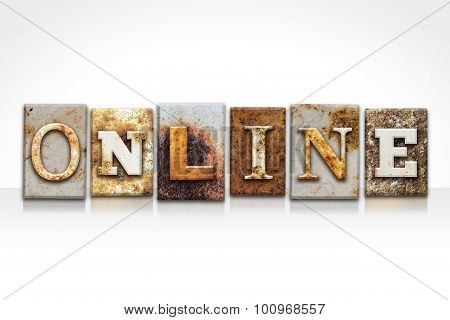 Online Letterpress Concept Isolated On White