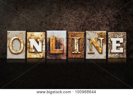 Online Letterpress Concept On Dark Background