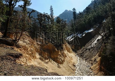 Steep Canyon In Himalayas