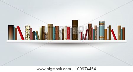 Book Shelf. Vector Illustration.