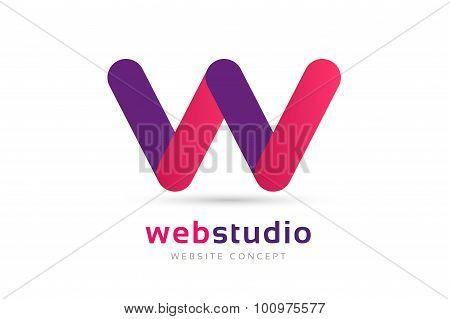 W letter vector logo icon template