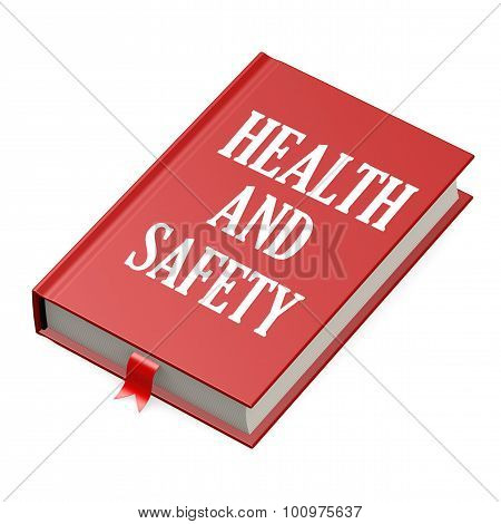 Book With A Health And Safety Concept Title