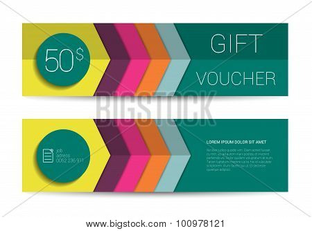Color Gift Voucher Template.