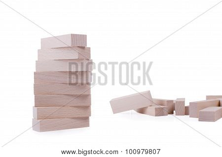 Wooden Bricks Tower