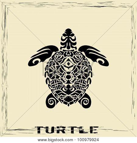 Totem Pole - Turtle
