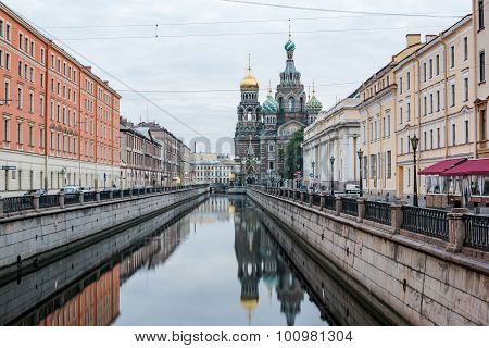 View Of Church On Spilled Blood
