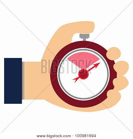 Businessman with stop watch