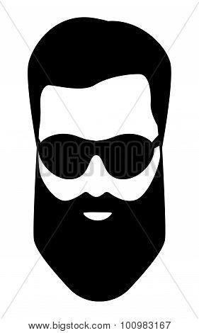 dude, Bearded man illustration