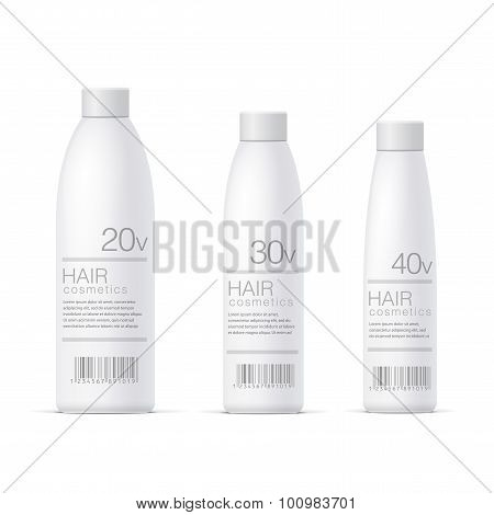 White Realistic Cosmetics Bottle Set