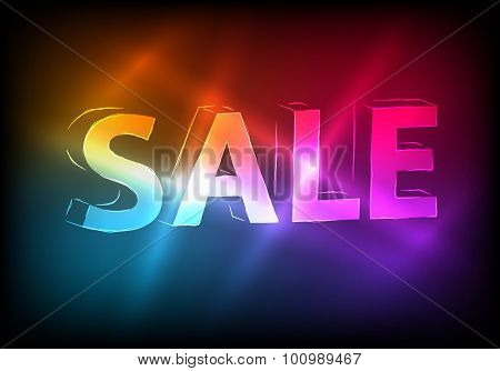 Sale-marketing-effect-neon-dark-background