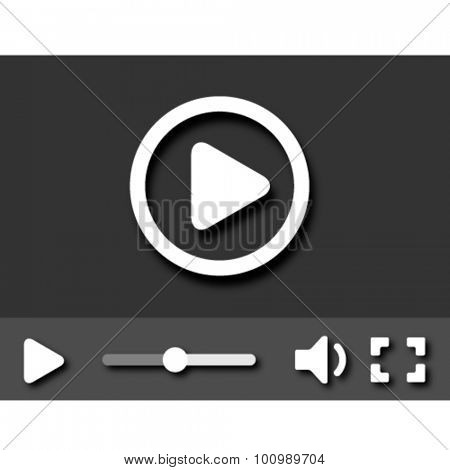 EPS10 vector little video player with shadows