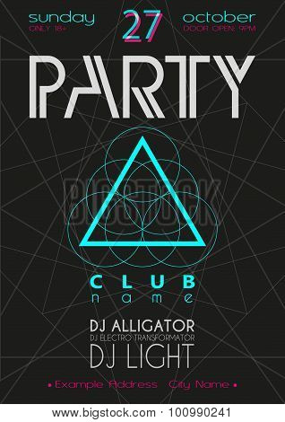 Party Flyer. Nightclub Flyer.